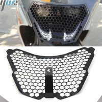 For KTM RC390 14 16 Motorcycle Parts Grille Guard Cover For KTM rc125 rc 200 RC390 2014 15 2016 Headlight Protector cover grill