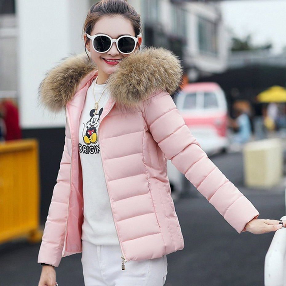 Zogaa 2019 Womens Coats and Jackets Thick Fur Collar Winter Jacket Women Hooded Cotton Wadded Outwear   Parkas   Plus Size Fur Coat