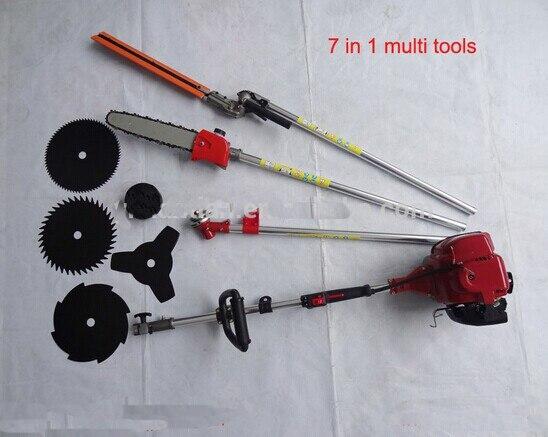 Tondeuse 7 dans 1 Multi Outils GX35 4 débroussailleuse à scie à chaîne taille-haie