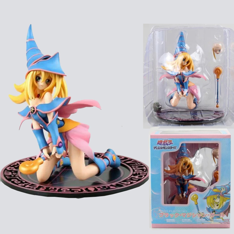 20cm Yu Gi Oh Duel Monster Dark Magician Girl PVC Action Figure Collection Model Doll Toy Gift Free Shipping [sgdoll] 2017 new anime yu gi on duel monsters yami yugi 1 7 pvc figure no box hot sale free shipping 5278 l