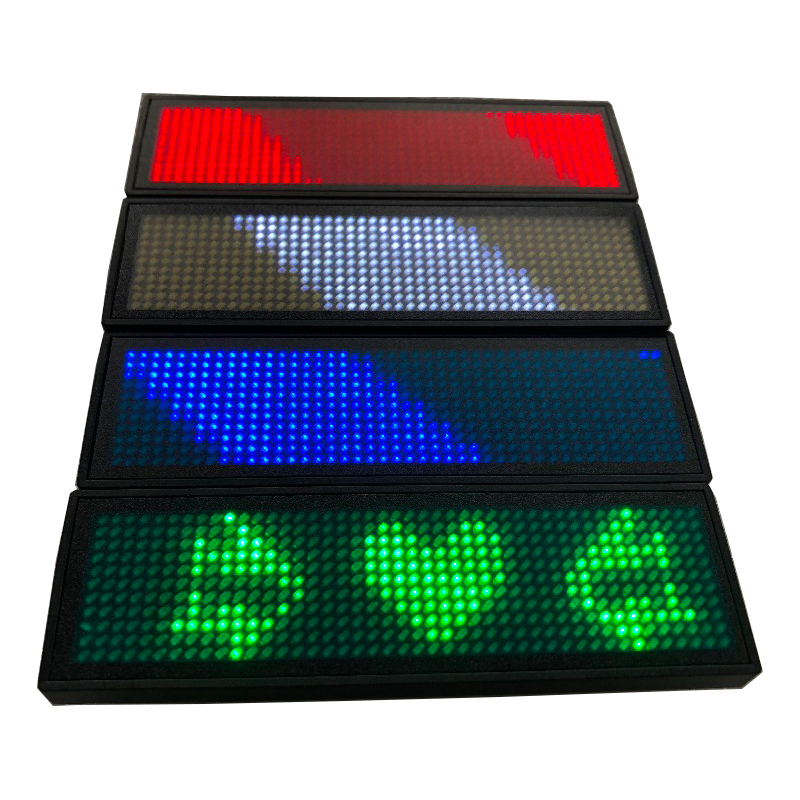 Led Name Badge HD-NT44 ID Name Badge LED Mini Programming Worker Single Color With Red Green Blue White
