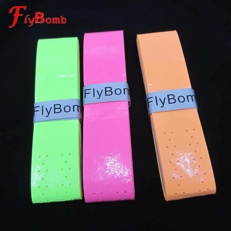 FlyBomb Sticky Badminton Rackets OverGrips Soft Tennis Racquet Wraps High Elasticity Grips with Holes Fishing Overgrip L008OLE