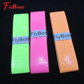 FlyBomb Sticky Badminton overgrips para raquetas, raquetas de tenis blandas, mangos de alta elasticidad con agujeros, Overgrip de pesca L008OLE