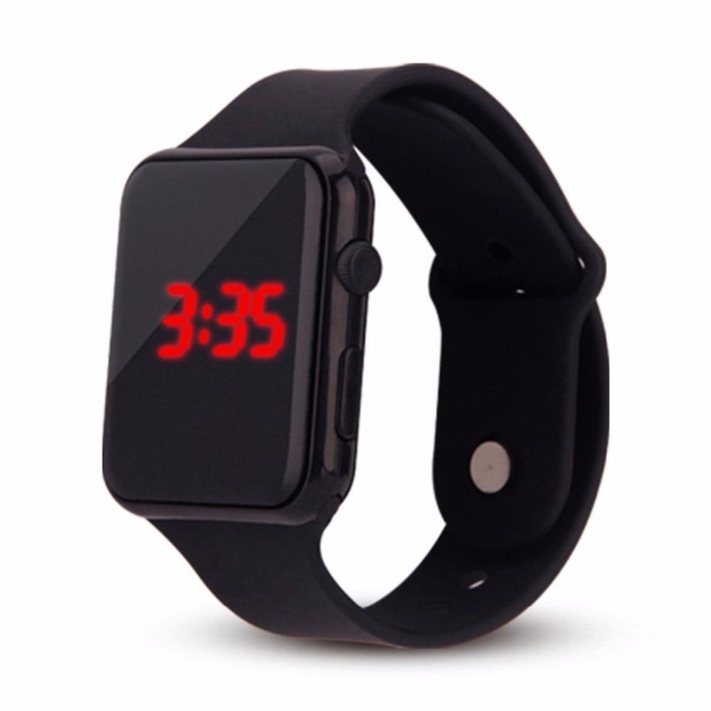 Mode Silikon Uhr Kinder Kinder Uhren Für Mädchen Jungen Studenten Elektronische Led Digital Armbanduhr Kind Armbanduhr Uhr Stunden Herrenuhren Digitale Uhren