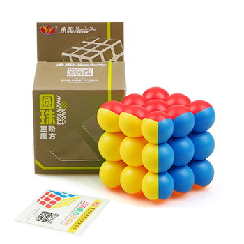 Professional Circular 3*3*3 Ball Speed Cube Magic Cube Educational Puzzle Toys For Children Learning Cubo Magic Toys Gift mo yue guo guan yue xiao 3 3 3 black magic cubes puzzle speed rubiks cube educational toys gifts for kids children
