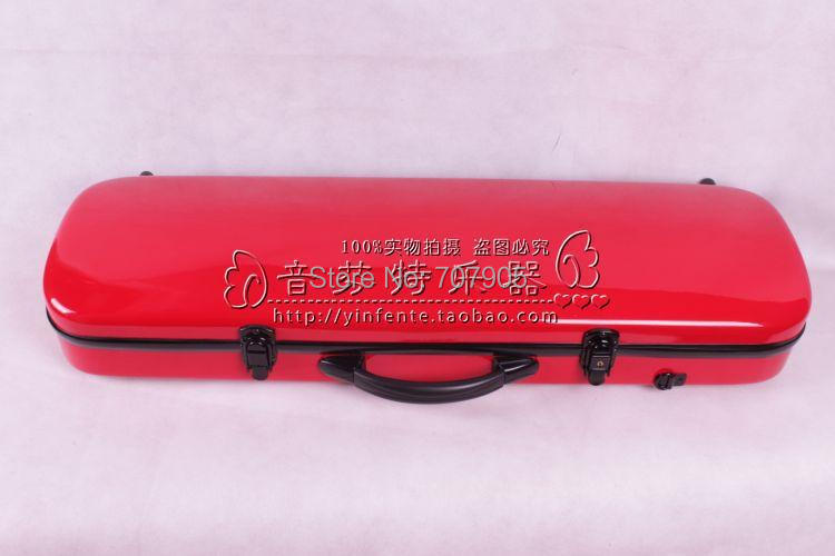 ФОТО red    color    4/4 Violin case Glass Fiber Soft Imitate Leather Pink White Black #001