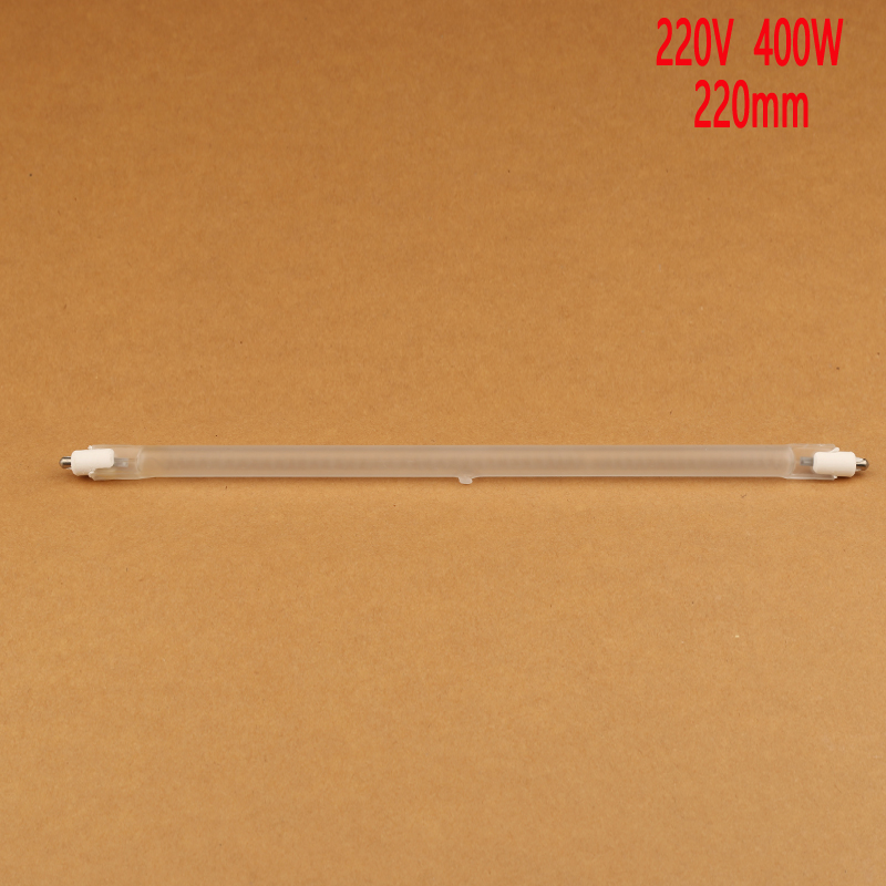 220mm 400W vacuum halogen tube for electric heat / directional,heater machine infrared heating element,IR radiation quartz tube quartz glass infrared heater custom made ovens carbon fiber bent tube