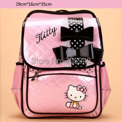 521403e7a014 pencil case + pink black 29x35x16 sanrio Hello Kitty children kid Backpack  school travel shoulder bag 1-4 grade primary school