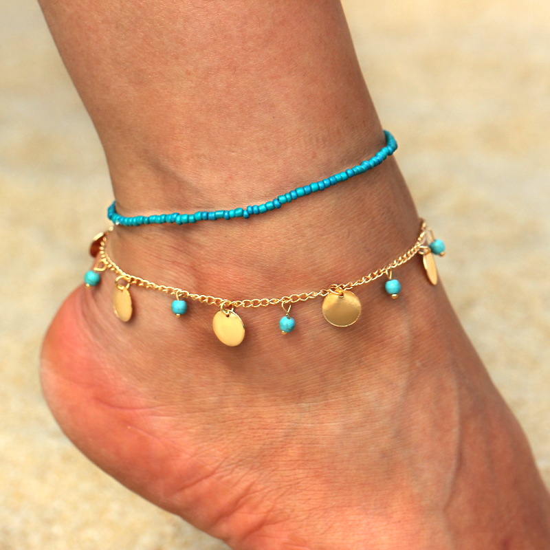 New Fashion Accessories Fine Jewelry Gold Color Chain Anklet Adjustable Charm Anklet Ankle Leg Bracelet Foot Jewelry Anklets Jewelry & Accessories