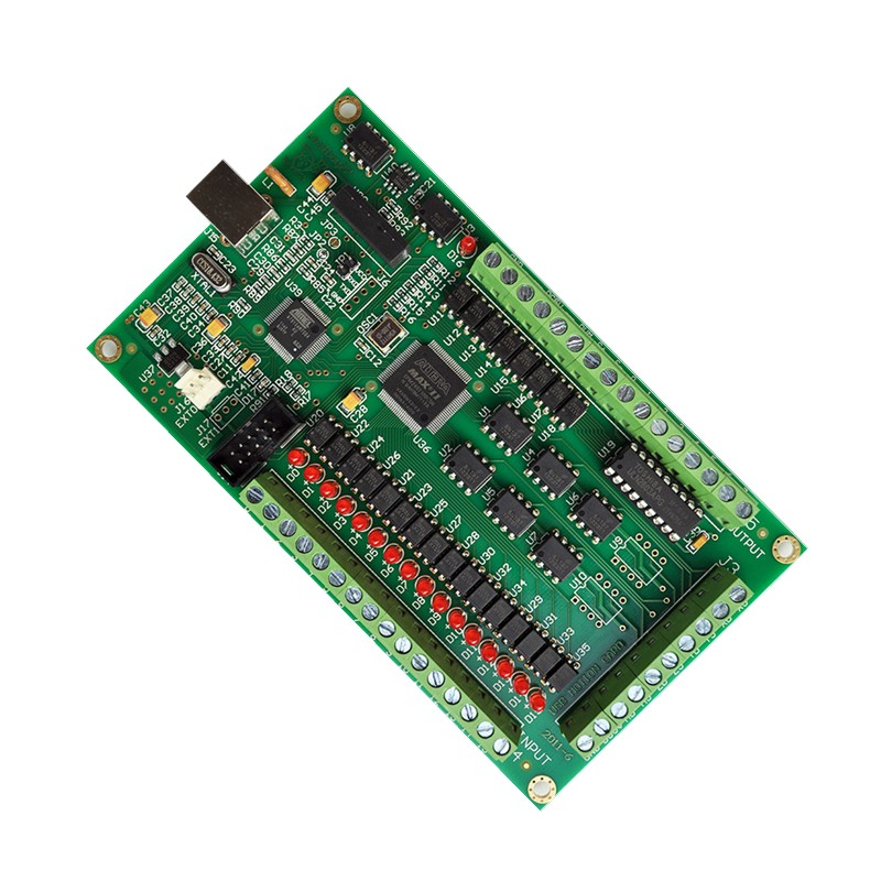 4 axis CNC Motion Controller USB Card Mach3 200KHz Breakout Board Interface freeshipping 0 to 10 vpwm spindle speed controller mach3 interface board