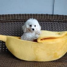 Кошка Собака диваны кровать банан Форма собака дом милый питомец Питомник Гнездо Теплый Собака Кошка Спящая кровати дом Популярные