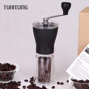 Image 1 - RU Verschiffen TUANSING Manuelle Kaffeemühle Waschbar ABS Keramik core Edelstahl Küche Mini Manuelle Hand Kaffeemühle