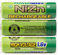 8Pcs/lot NiZn 1.6V AA 2500mWh Rechargeable Powergenix more than 1.5v Battery High Voltage For High Drain Usage