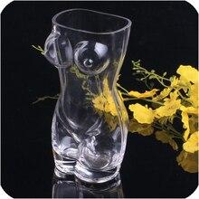 2016 freies verschiffen neue kreative Sexy frauen körper großen glas bier wine Transparent tasse 700 ml Coffe getränke Becher Teetasse als Geschenk