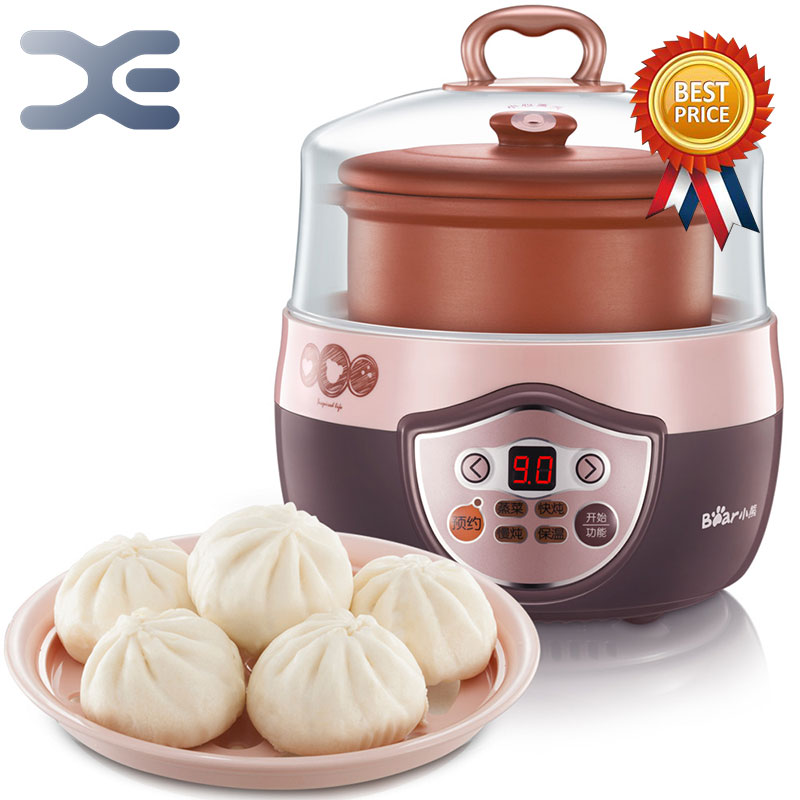 High Quality Electric Cookers Crockpots 0.8L Slow Cooker 220V Mini Casserole Cooker Electric Stoves cukyi automatic electric slow cookers purple sand household pot high quality steam stew ceramic pot 4l capacity