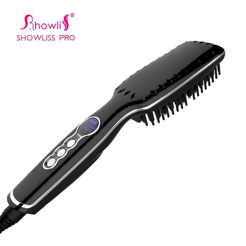 font b Digital b font Electric Hair font b Straightener b font Brush Comb Detangling