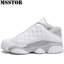 MSSTOR Spring Men Basketball Shoes Outdoor Athletic Man Brand Training Boots Sport Shoes For Men Anti-Slip White Mens Sneakers