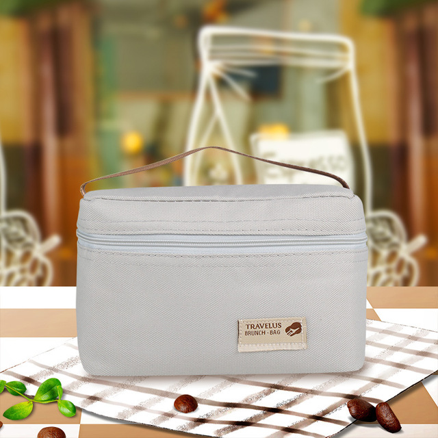 Camping picnic bag Mini ice pack storage lunch bag Student portable barbecue Food storage bag Thermal picnic basket ice box