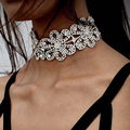 Miwens 2016 hot collar choker boho colar tendência da moda contas de cristal flor colar apelativo jóias para mulheres 7122