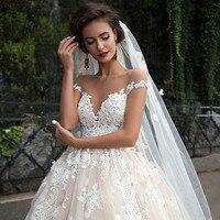 Vintage Turkey Lace Ball Gown Wedding Dress 2019 Off Shoulder Princess Illusion Jewel Neck Bride Bridal Dress Gown Weddingdress