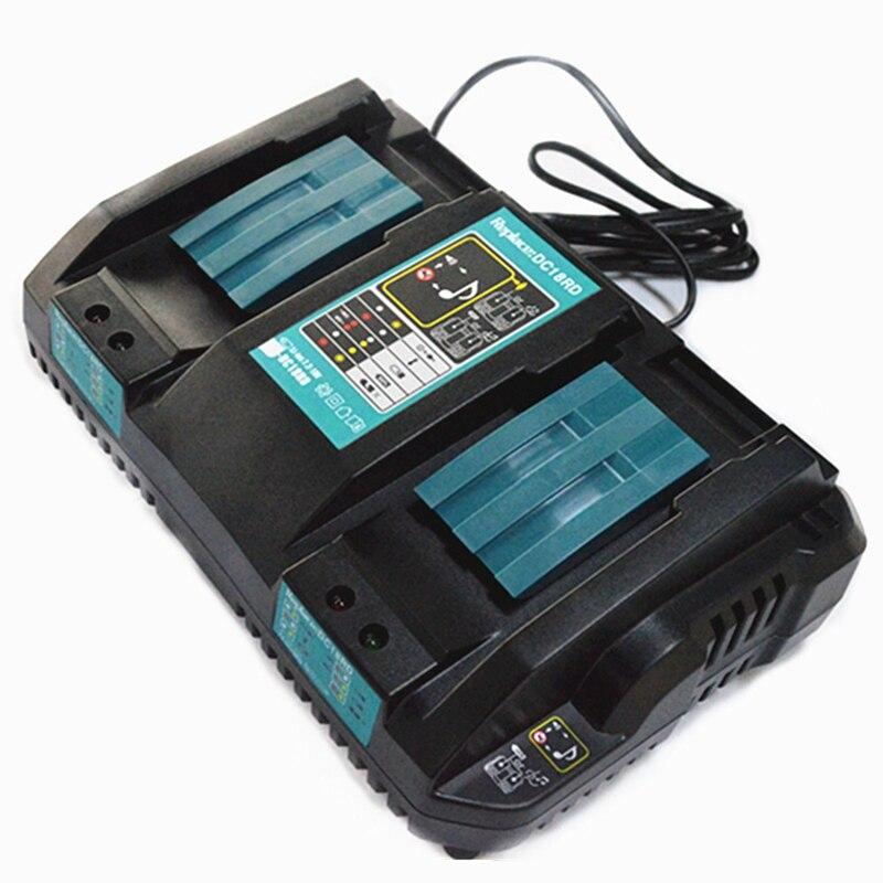 Double chargeur de batterie pour Makita 14.4 V 18 V BL1830 Bl1430 DC18RC DC18RA EU Plug