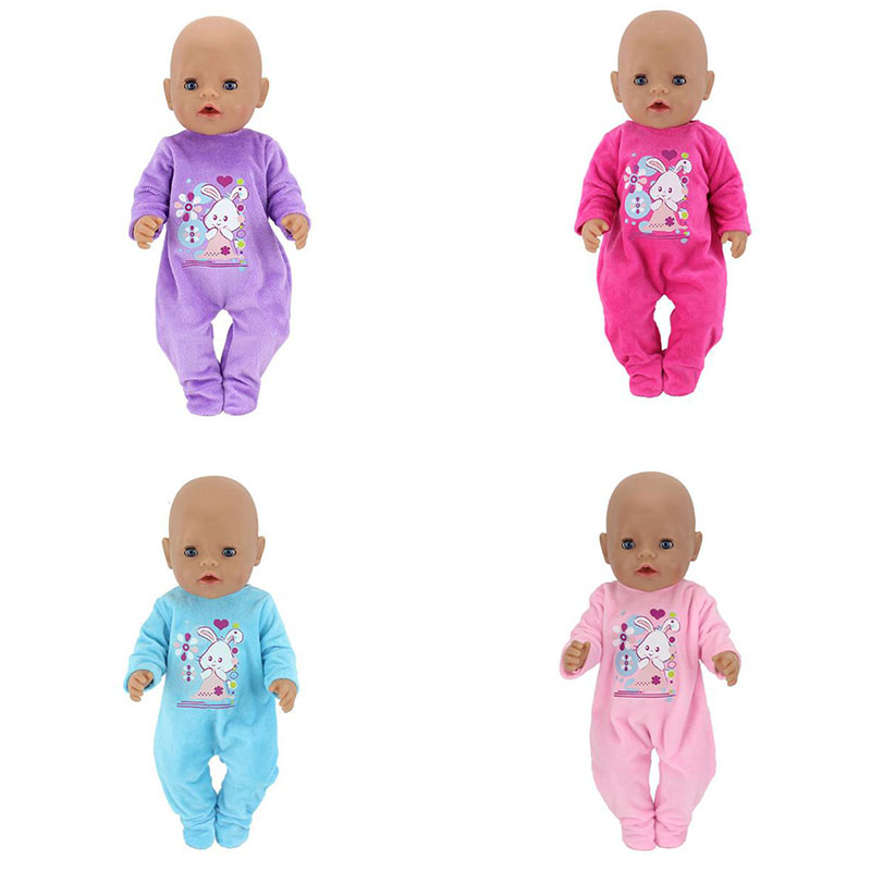 5Style Choose Warm Jumpsuits Doll Clothes Fit For 43cm Baby Doll Clothes Reborn Doll Accessories