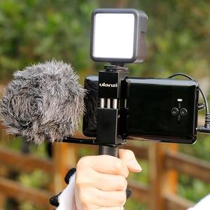 Image 2 - Ulanzi ST 02s Metall Smartphone Stativ Montieren Clipper mit Kalten Schuh Vertikale Horizontale für iPhone Video Filmemacher Vloggers