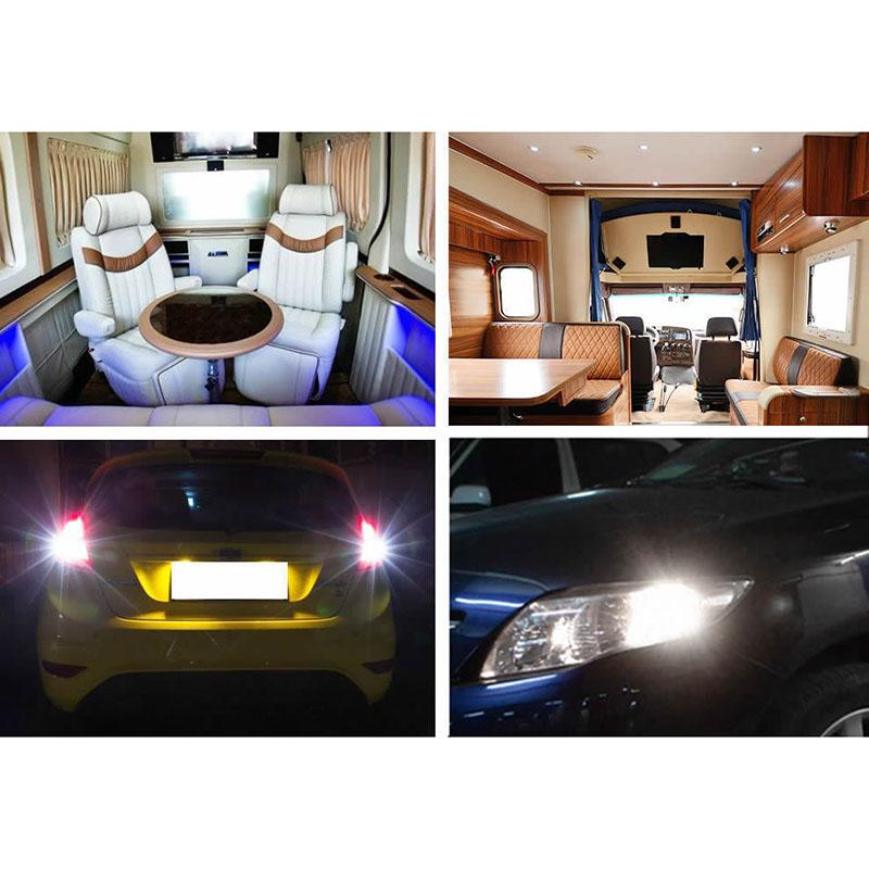 20pcs 6.6W 1156 1141 2835-33SMD LED White Interior Light Bulbs for RV Trailer ...