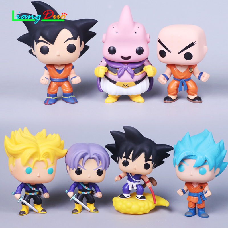 Dragon Ball Super playmobil cuadro de goku Anime Action Figure pop PVC Model plastic hot toys collectibles for children