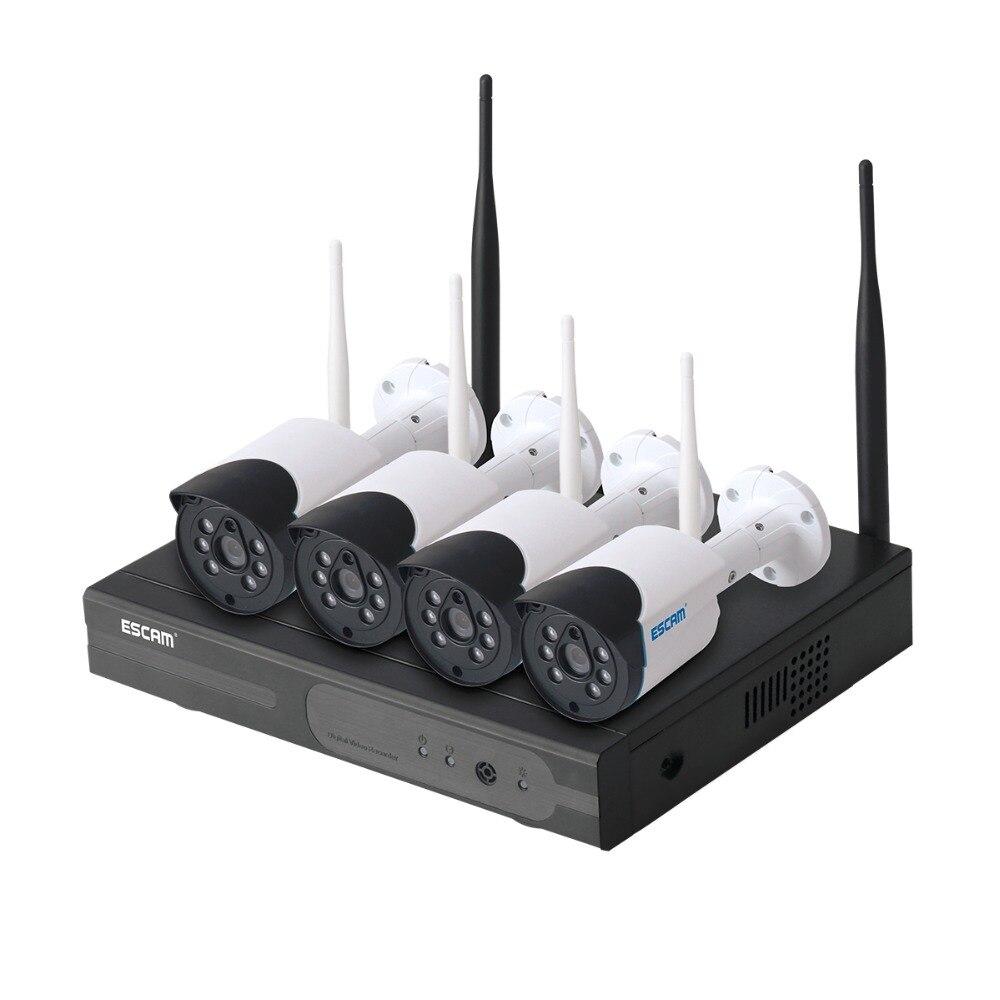 Escam WNK404 4CH Wi-Fi IP Камера s Wi-Fi NVR комплект HD 720P ИК-Открытый Водонепроницаемый IP66 день/Ночное видение ИК-безопасности Камера