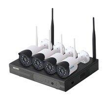 Escam WNK404 4CH WiFi كاميرات اي بي Wifi طقم NVR HD 720P الأشعة تحت الحمراء في الهواء الطلق للماء IP66 يوم/ليلة الرؤية IR  قص الأمن