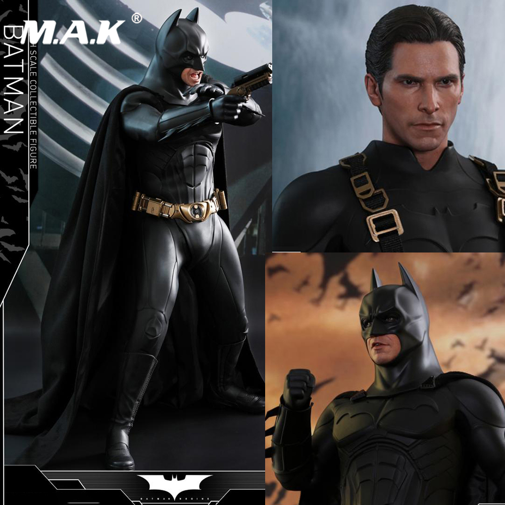 For Collection 1/4 Scale Full Set QS009 Begins Batman Christian Bale Action Figure Model for Fans Holiday Gifts new multi functional cervical massage body waist electric pillow shoulder back neck cushions massager