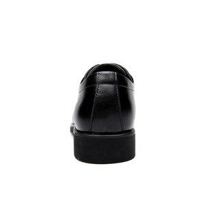 Image 3 - حذاء رجالي من الجلد الطبيعي من ROXDIA حذاء رجالي للعمل الرسمي حذاء أكسفورد للرجال طراز RXM063 بمقاسات 39 44