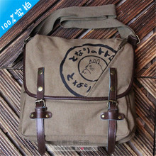 Fashion My Neighbor Totoro Cartoon Durable Messenger Bag Canvas Totoro Print Cosplay Shoulder Bags Casual Schoolbag