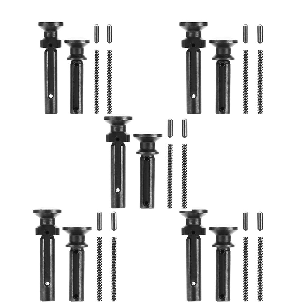 Magorui 5x set Mil-Spec .223/5.56 .308/7.62 Extended Take Down Pivot Pins w/ Detent and Spring magorui 223 5 56 ambidextrous safety selector ambi replaces mil spec steel