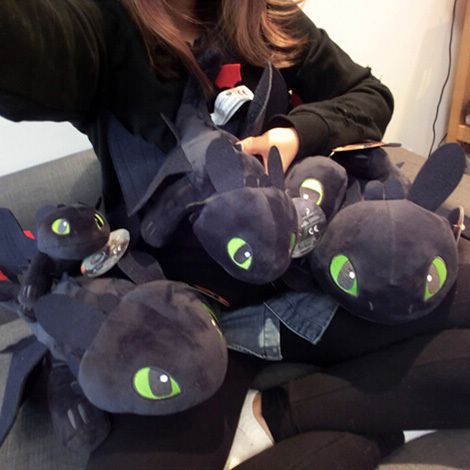 58cm night fury plush toy how to train your dragon 2 - Peluche furie nocturne ...