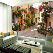 купить Custom 3d mural garden alley sofa bedroom TV background wall decoration painting wallpaper mural photo wallpaper по цене 576.41 рублей