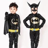 Halloween Children Bat Garment Kids Boy Batman Clothing Performance Costume Jumpsuit Cloak