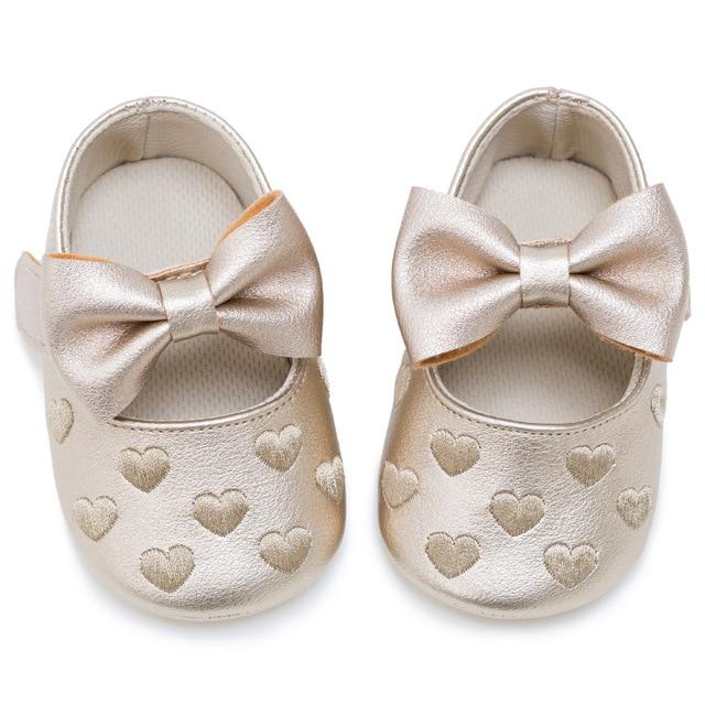 Bow calzature scarpe bambino piccolo barba letto a forma di cuore ...