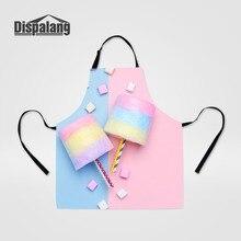 Горячая мода женский регулируемый фартук для приготовления пищи 3D конфеты печати шарфы для девочек высокое качество леди кухонный фартук прямая поставка
