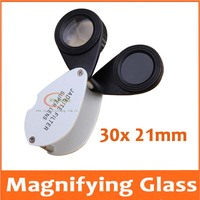 30 Times 21mm Pocket Jadeite Filter Super Double Lens Magnifier Jewelry Gem Identifying Type Inspecting Magnifying Glass Loupe