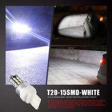 2 pçs t20 luz do carro boulb 7440 led w21w 2835 smd led carro invertendo luz de freio branco dc 12v virar lâmpada reversa txtb1