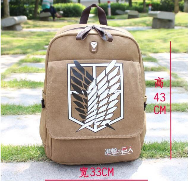NEW Quality Shingeki no Kyojin Attack on Titan Backpack Schoolbag Shoulder Bag Bolsos De Imitation Men Knapsack Scouting Legion ecopartyattack on titan sling pack school bags messenger bag travel male men s bag anime shingeki no kyojin shoulder bag