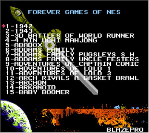 FOREVER GAMES OF NES 405 in 1 Game Cartridge for NES Console