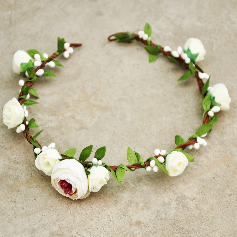 Mariée Mariage Demoiselle d/'honneur cheveux vigne Bandeau Cheveux Accessoire Quartz Rose