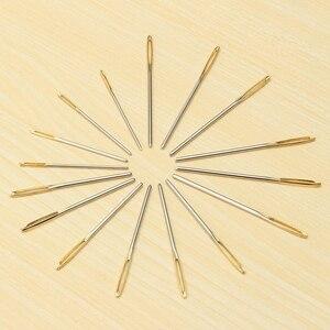 Image 4 - 18 teile/satz 7/6/5,2 cm 3 Größen Große Leder Hand Nähen Nadeln Gold Augen Nadel Stickerei Tapisserie hause Wolle DIY Nähen Nadeln