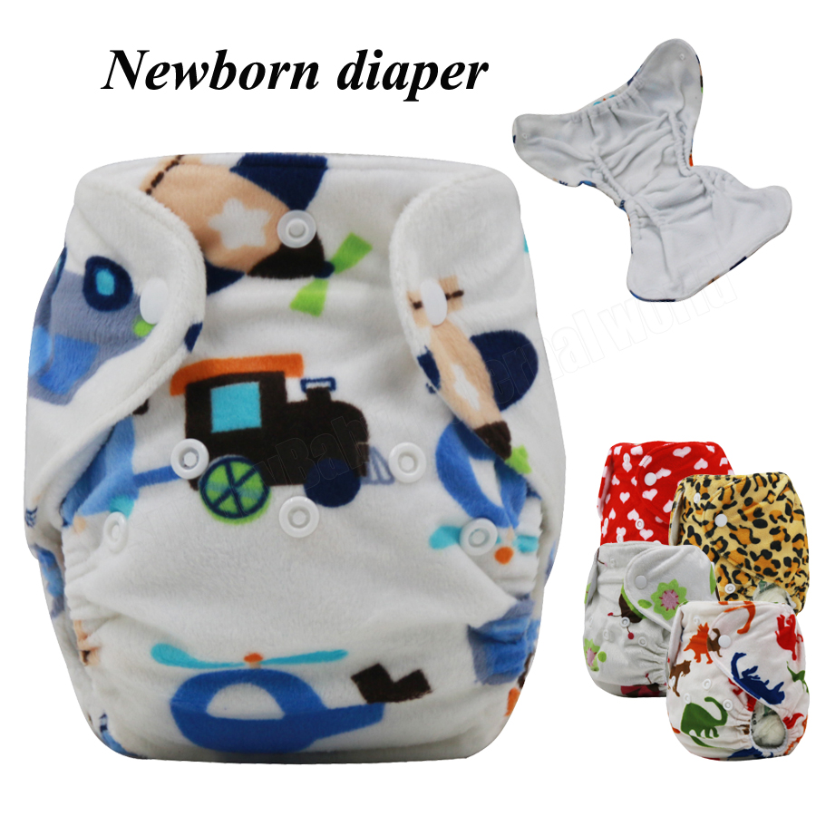 0 3 months newborn cloth diaper minky fabric for winter Reusable baby diaper Couche Lavable