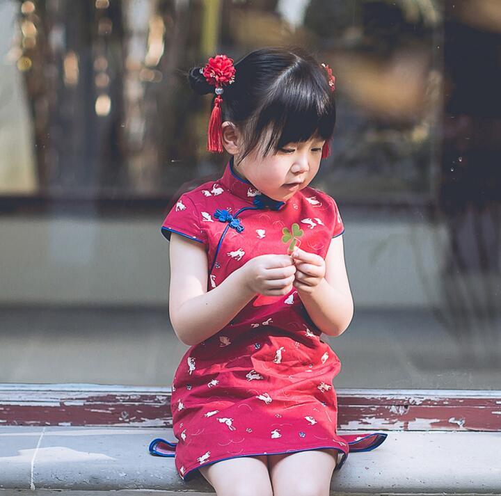 Kids chinese dresses Girls cheongsam Children Chinese dress Summer