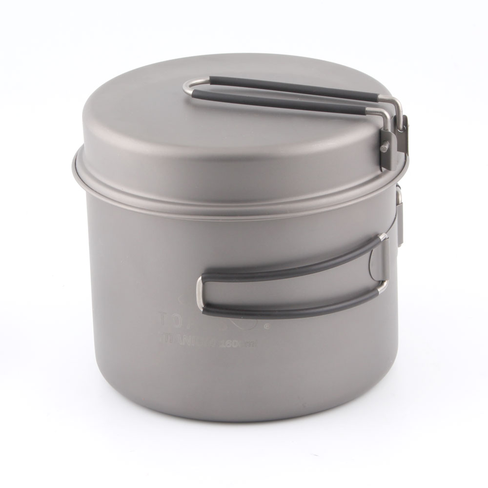 TOAKS CKW-1600 Outdoor Camping Cookware Titanium Pot Pan Titanium Bowl With Folding Handle 1600ml 10 1inch lcd screen lcd display matrix for fpca 101027bv1 fpca 101027bv1