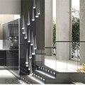 Светодиодная Подвесная лампа Милана  спираль  подвесной светильник для простой длинной спиральной лестницы  освещение в скандинавском сти...